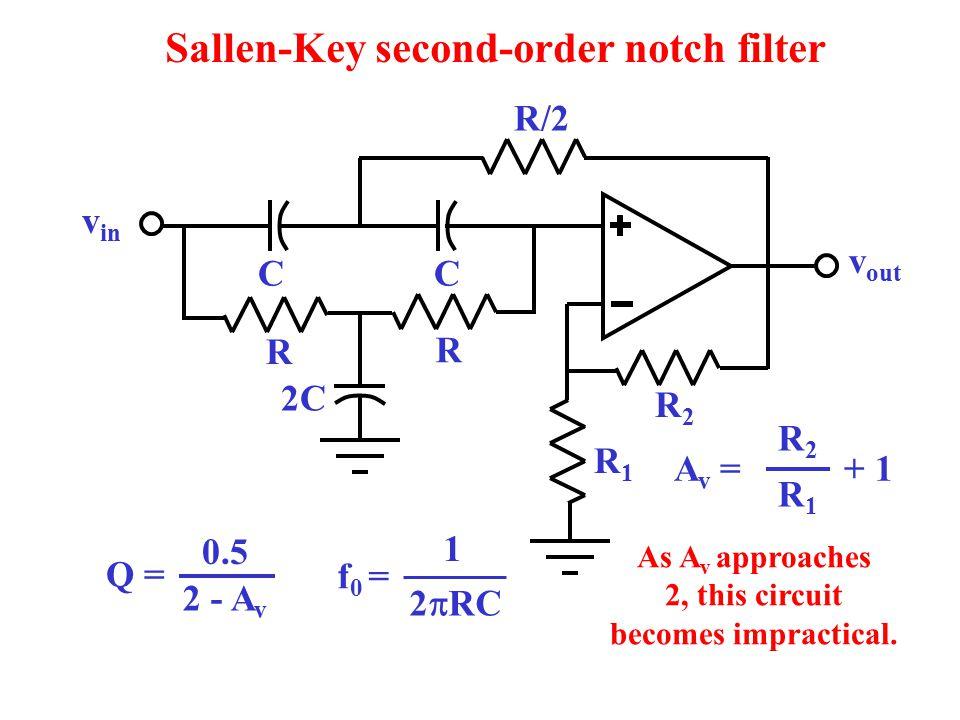 Sallen-Key second-order notch filter