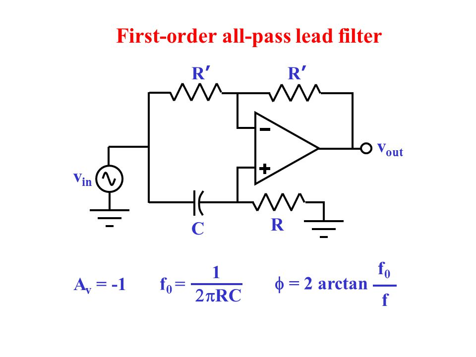 First-order all-pass lead filter