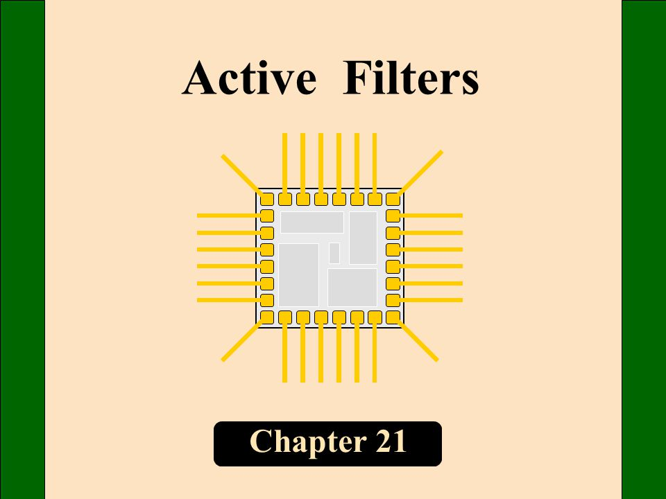 Active Filters Chapter 21