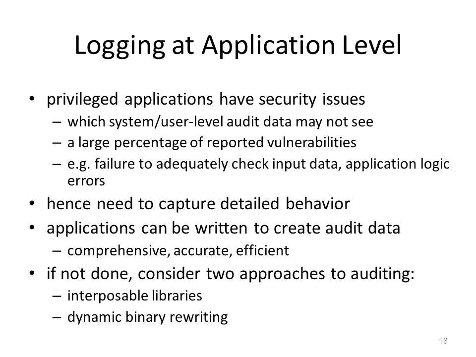 Logging at Application Level