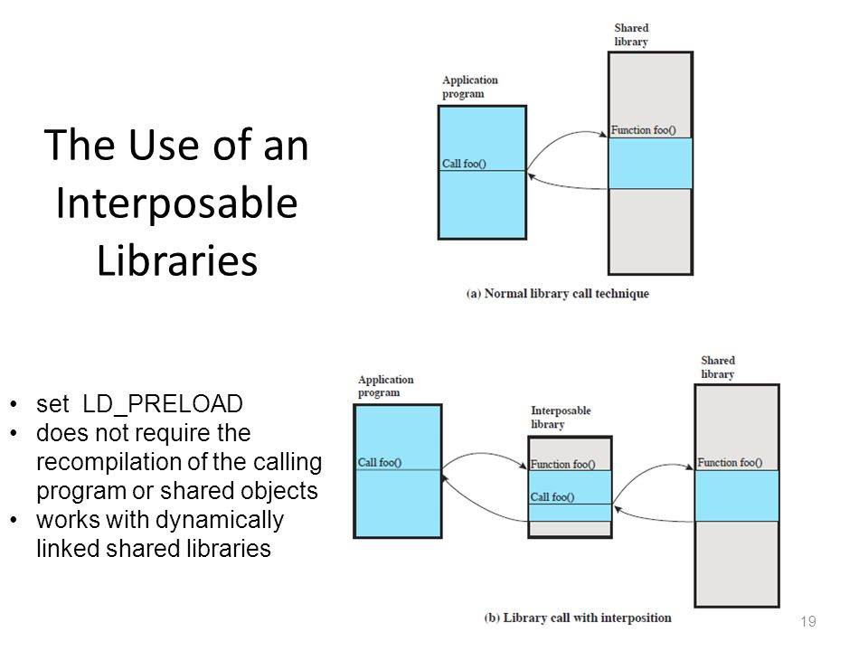 The Use of an Interposable Libraries