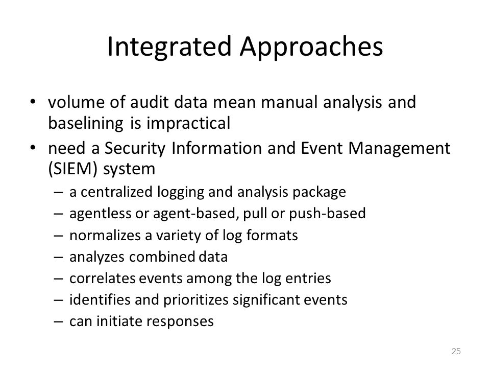 Integrated Approaches