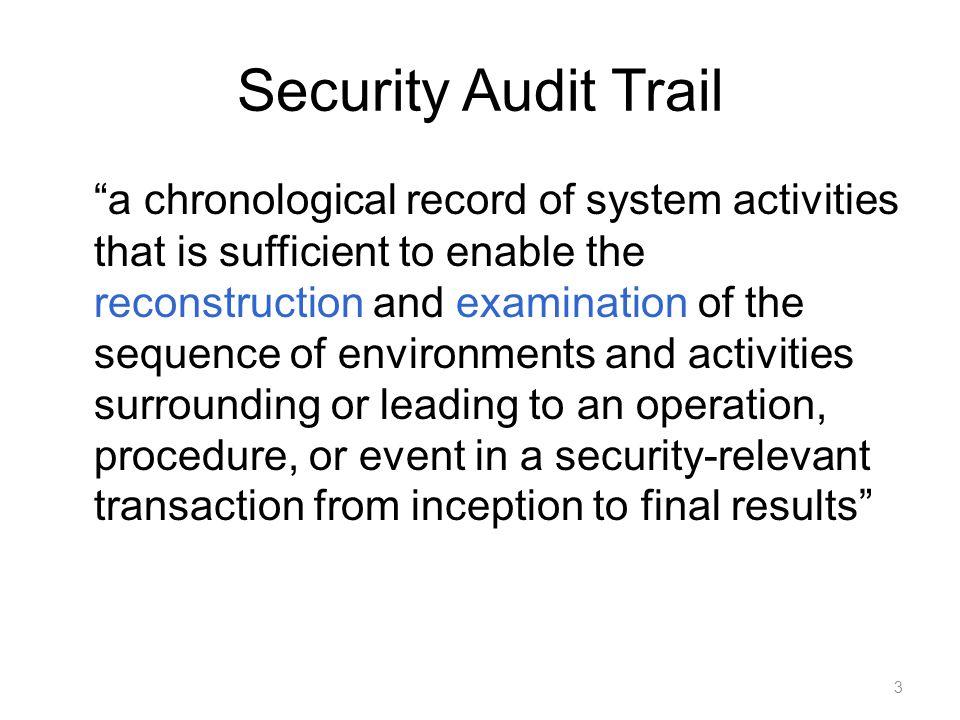 Security Audit Trail