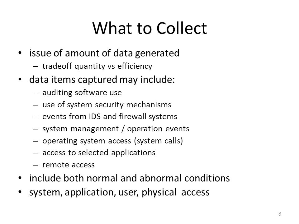What to Collect issue of amount of data generated