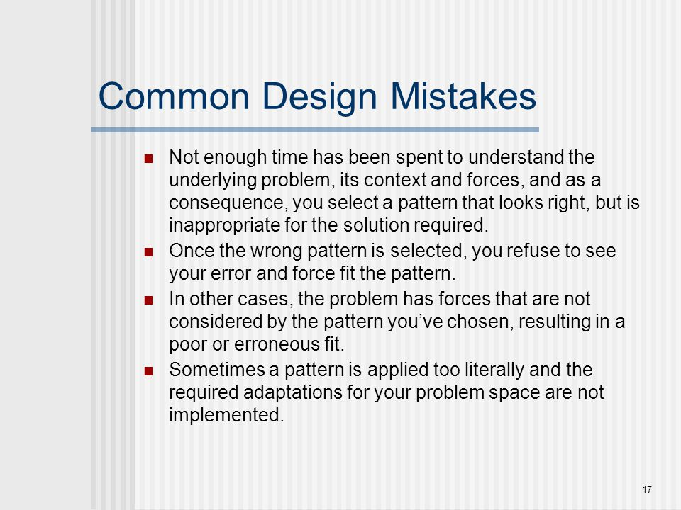 Common Design Mistakes