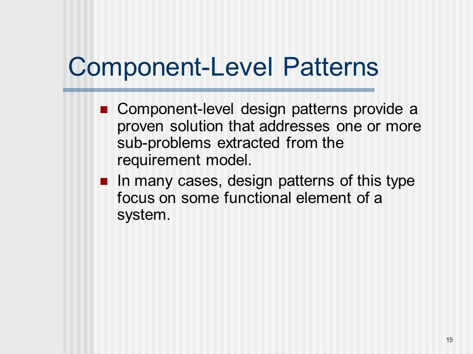Component-Level Patterns