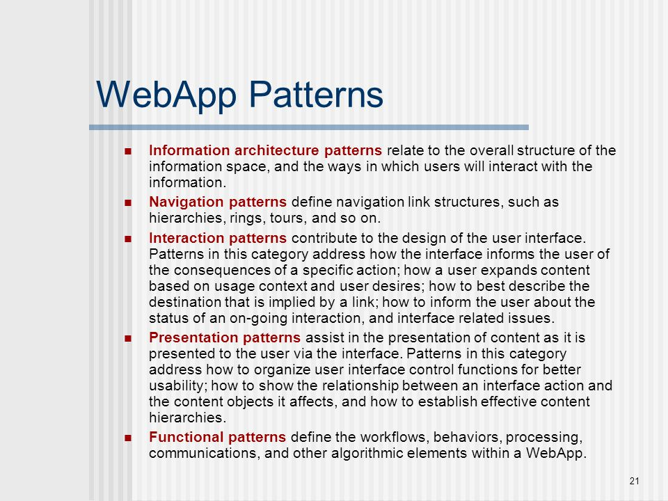 WebApp Patterns