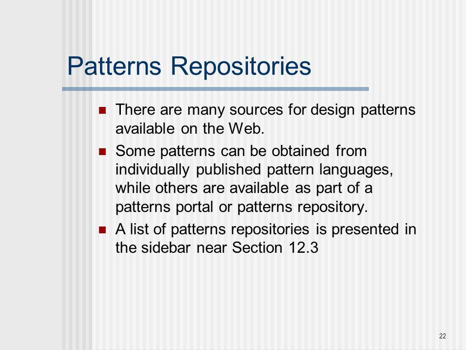 Patterns Repositories