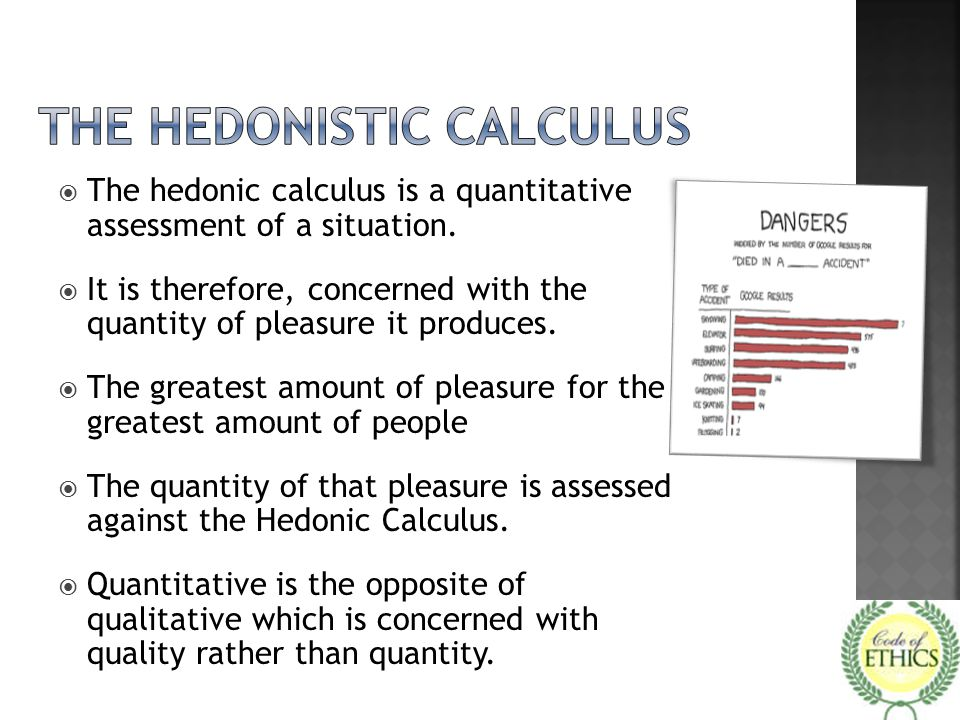 The Hedonistic Calculus