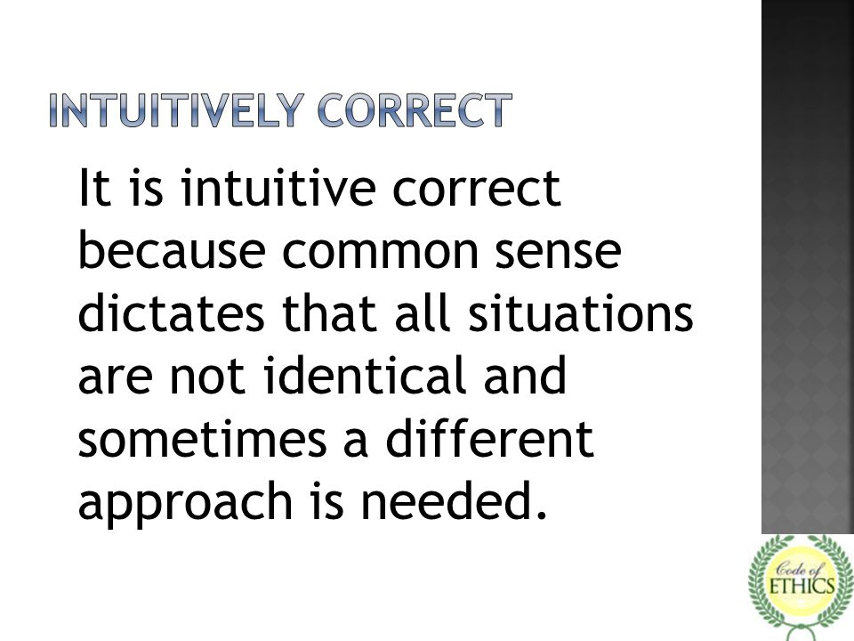 Intuitively correct