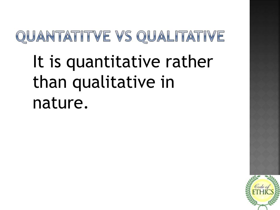 Quantatitve vs qualitative