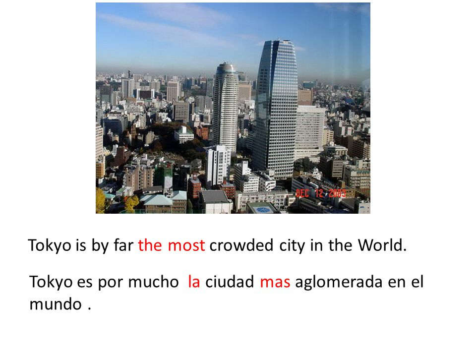 Tokyo is by far the most crowded city in the World.