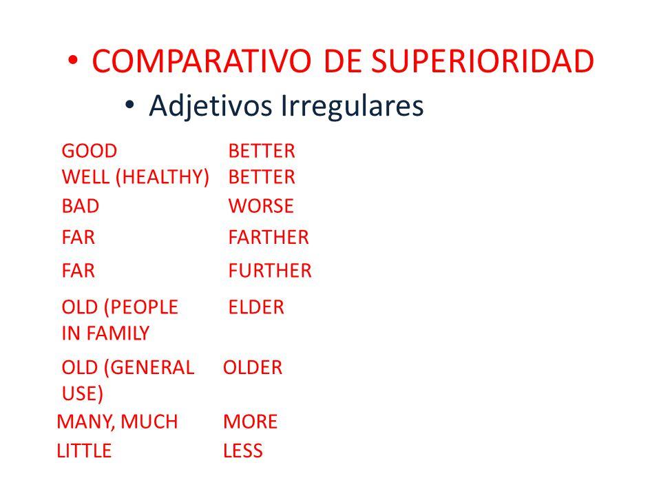 COMPARATIVO DE SUPERIORIDAD