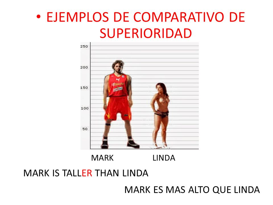 EJEMPLOS DE COMPARATIVO DE SUPERIORIDAD