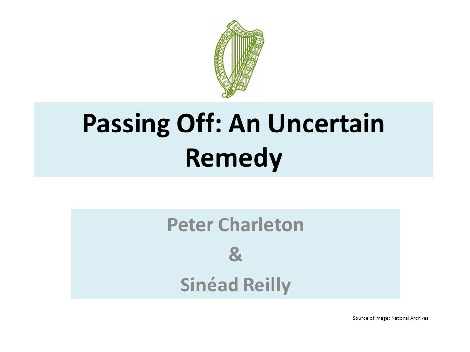 Passing Off: An Uncertain Remedy
