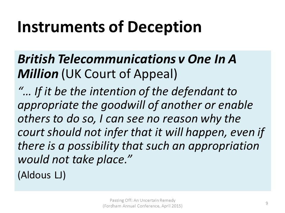 Instruments of Deception