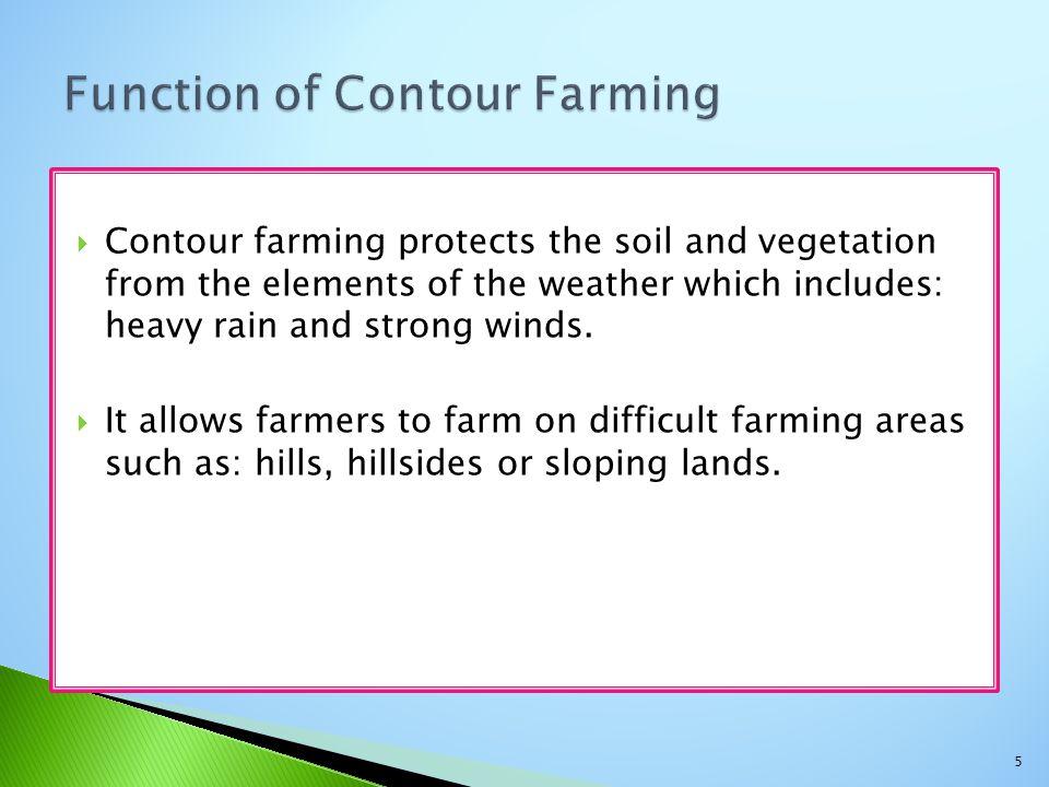 Function of Contour Farming