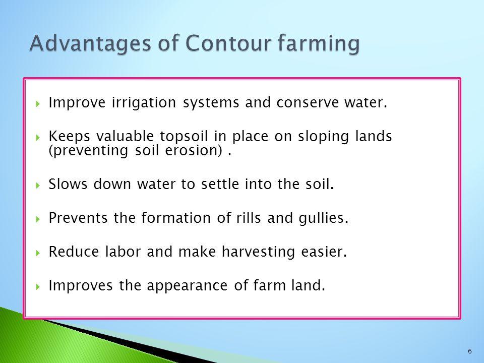 Advantages of Contour farming