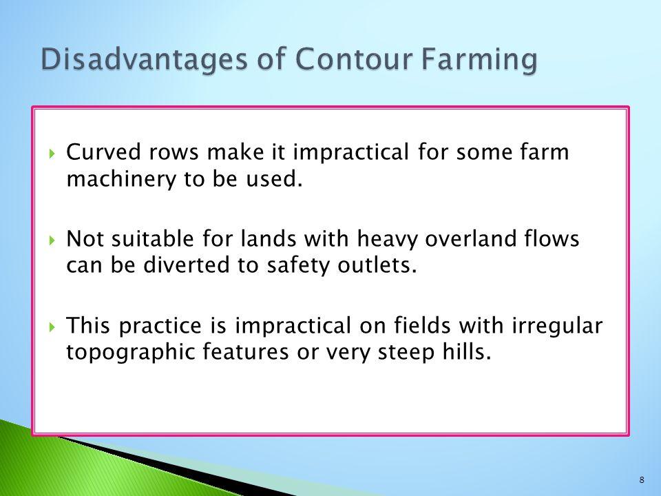 Disadvantages of Contour Farming