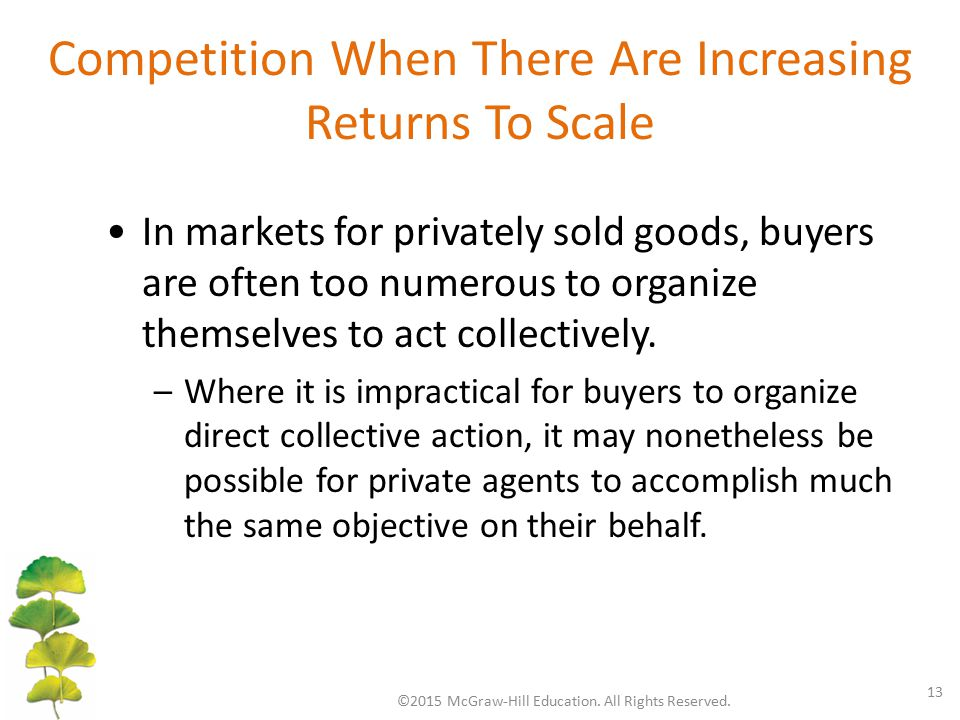 Competition When There Are Increasing Returns To Scale