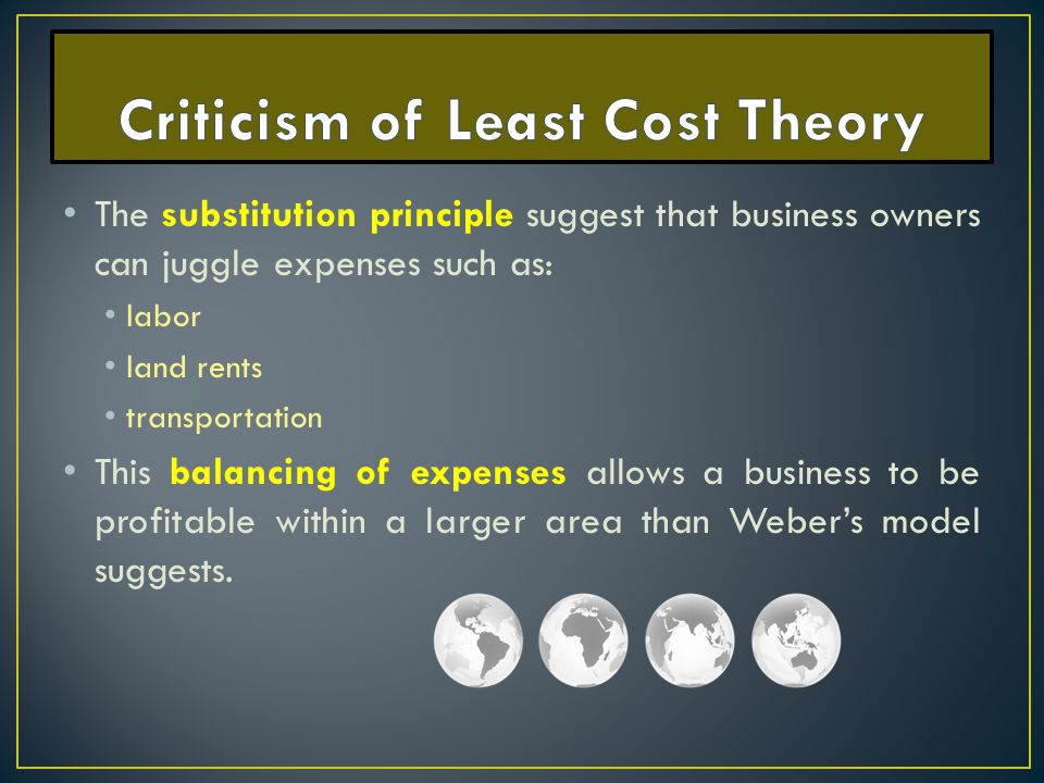 Criticism of Least Cost Theory