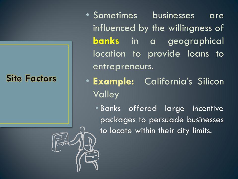 Example: California's Silicon Valley