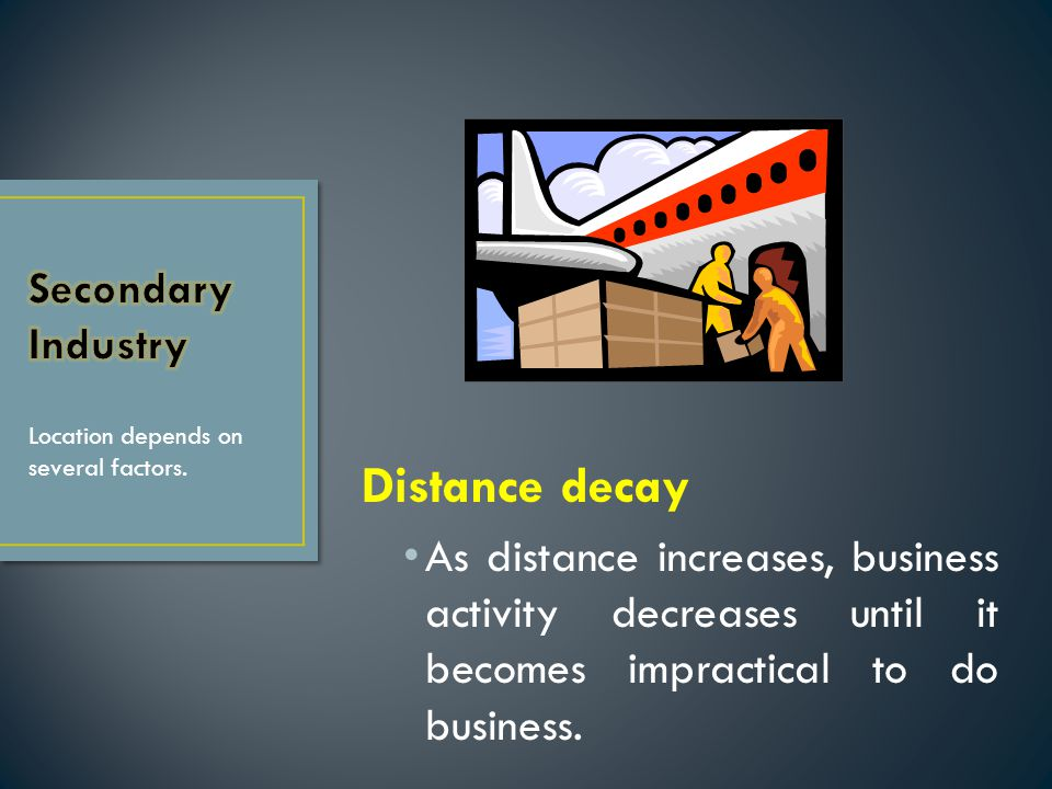 Distance decay Secondary Industry