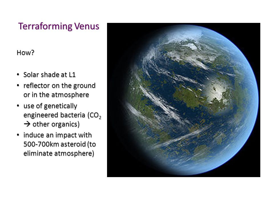 Terraforming Venus How Solar shade at L1