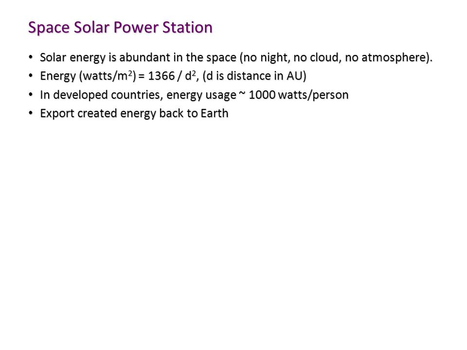Space Solar Power Station