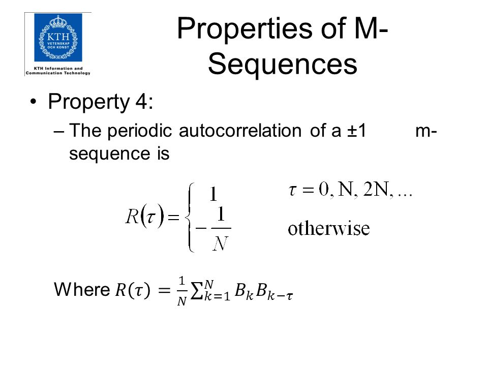 Properties of M-Sequences