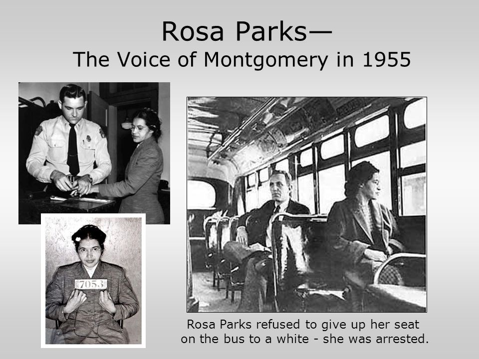 Rosa Parks— The Voice of Montgomery in 1955