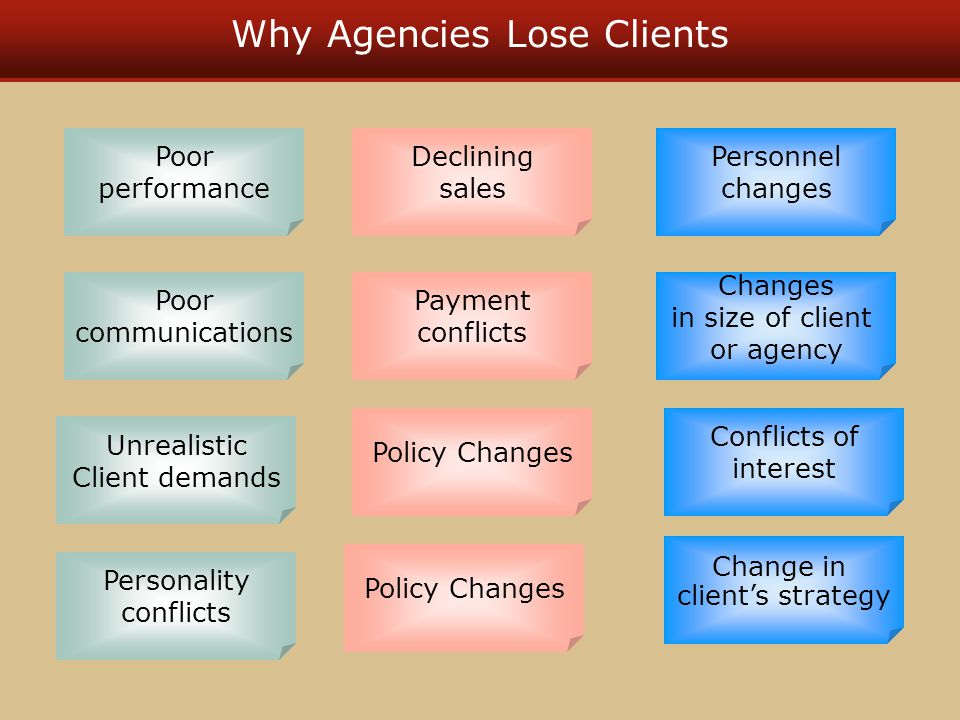 Why Agencies Lose Clients