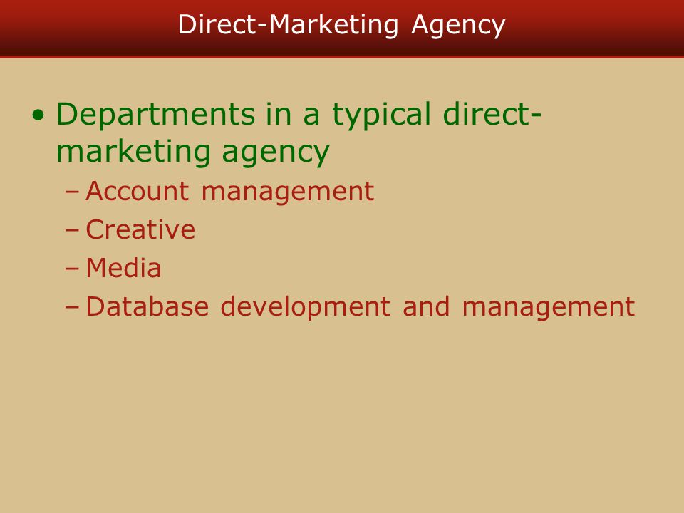 Direct-Marketing Agency