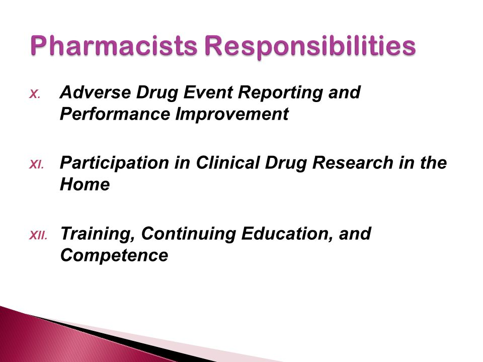 Pharmacists Responsibilities