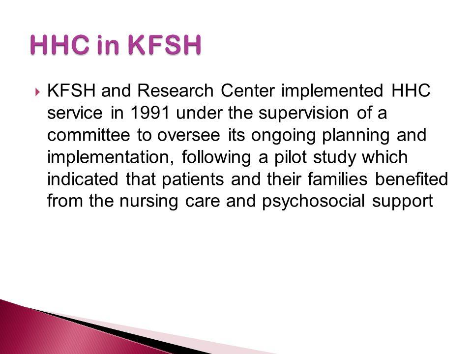 HHC in KFSH