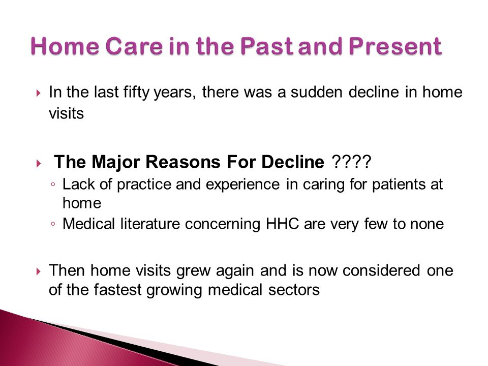 Home Care in the Past and Present