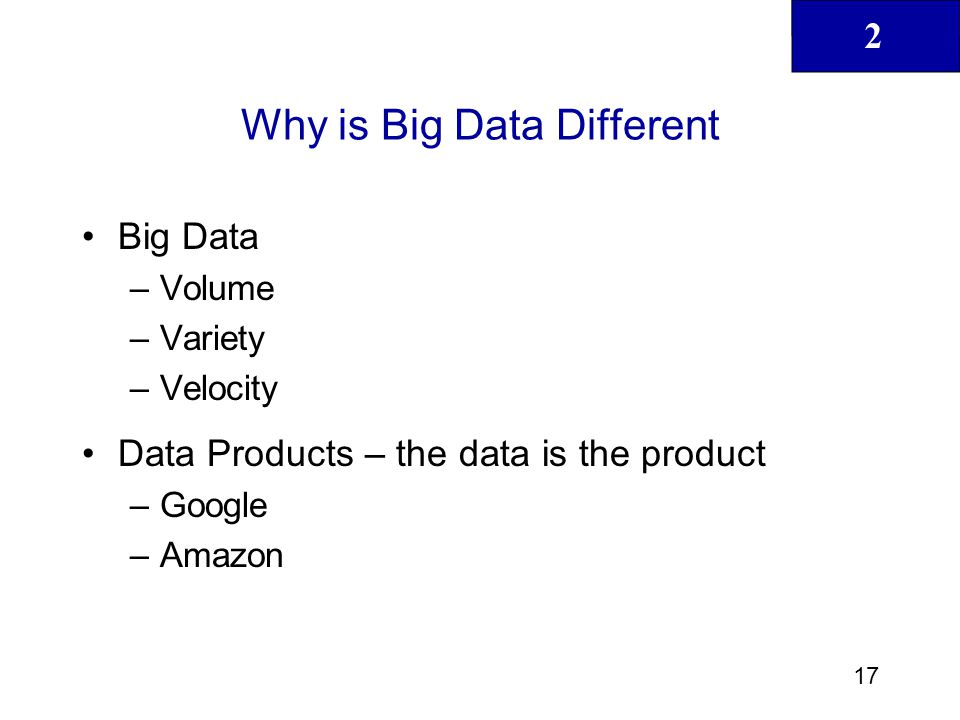 Why is Big Data Different
