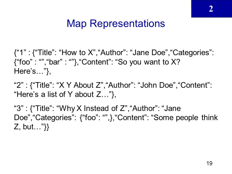 Map Representations