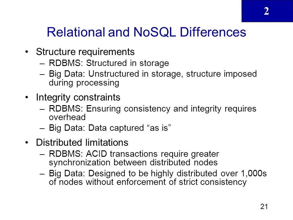 Relational and NoSQL Differences
