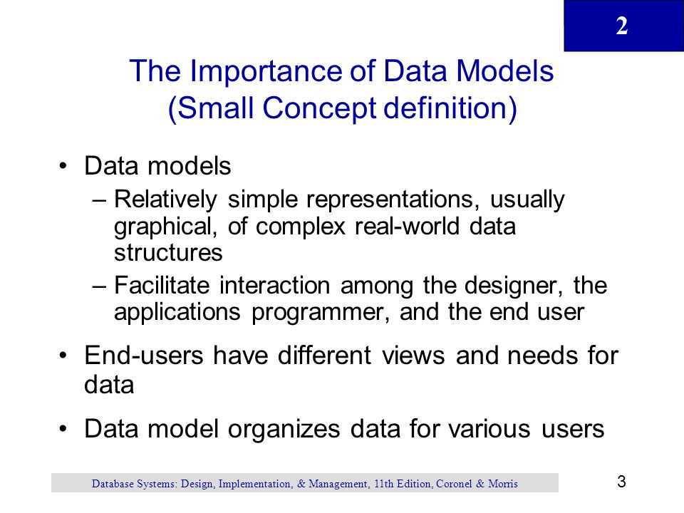 The Importance of Data Models (Small Concept definition)
