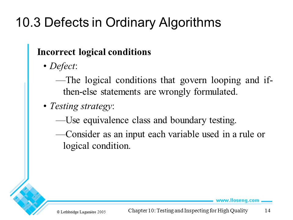 10.3 Defects in Ordinary Algorithms