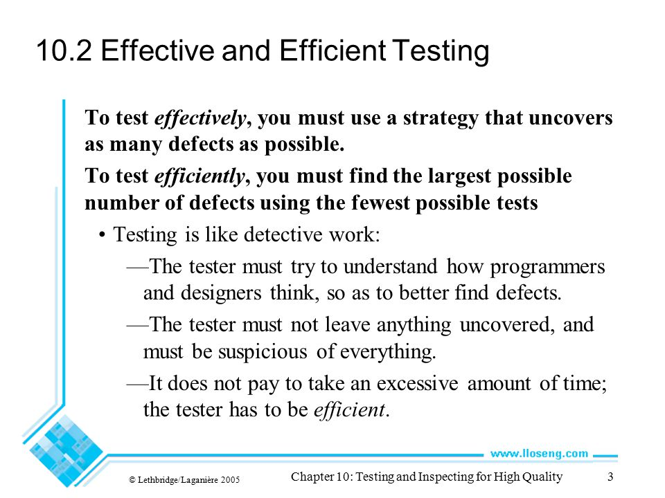 10.2 Effective and Efficient Testing