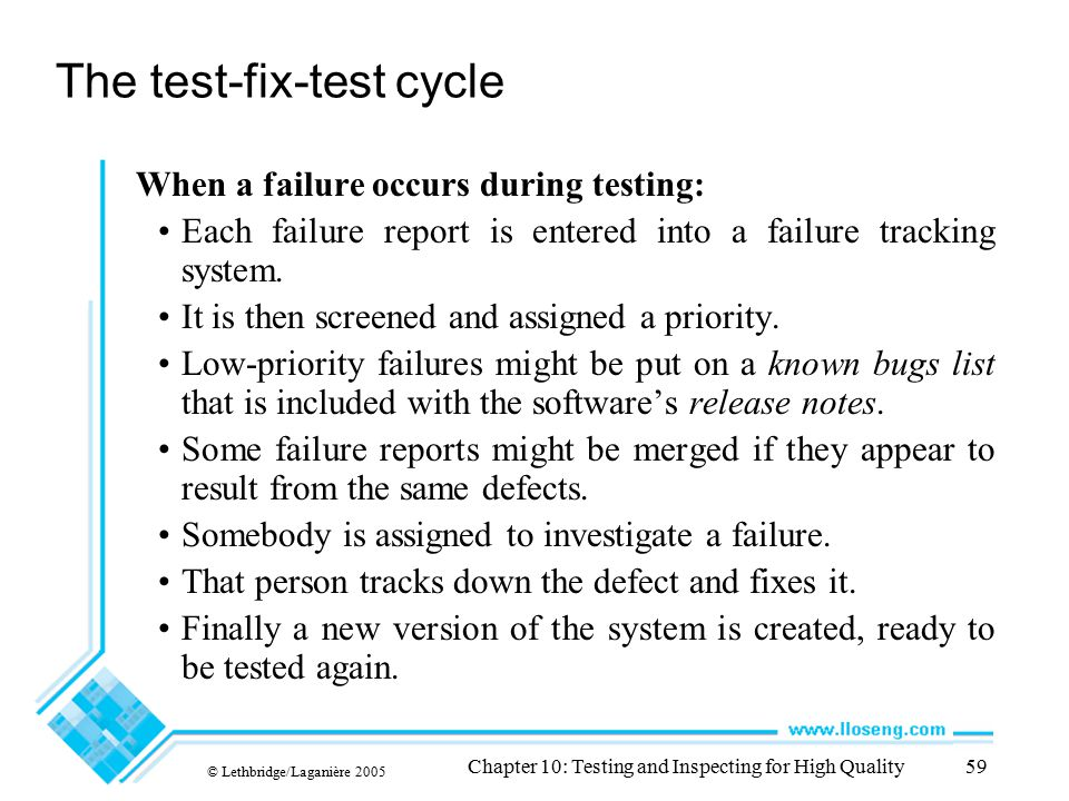 The test-fix-test cycle