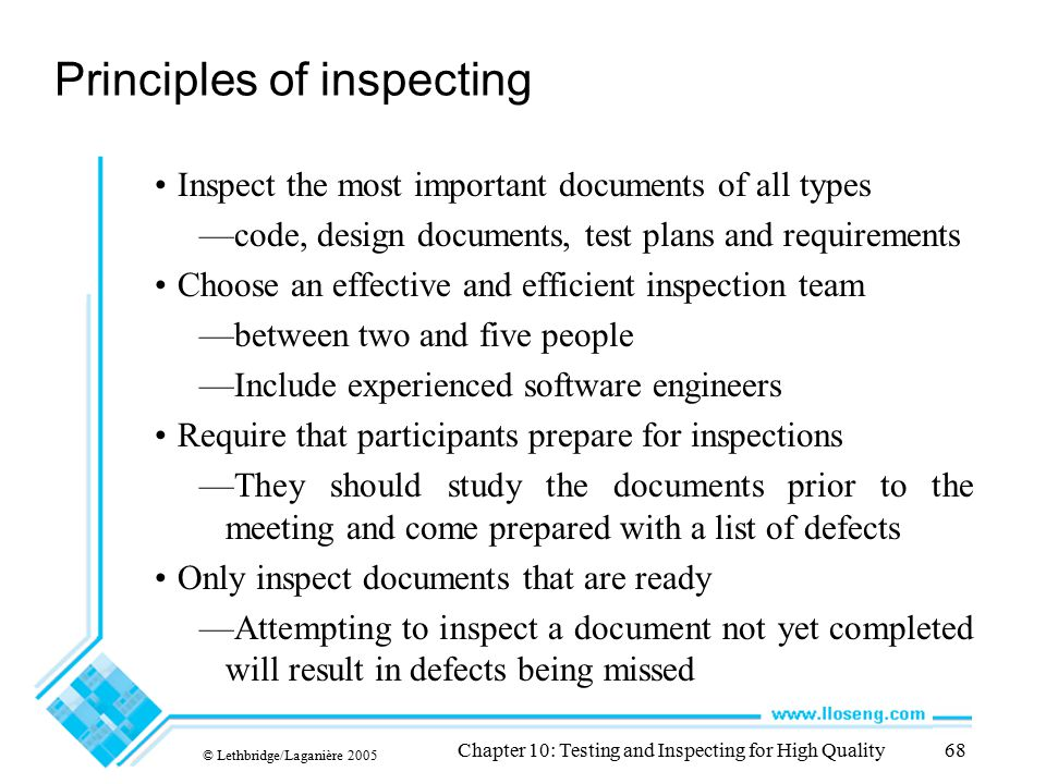 Principles of inspecting