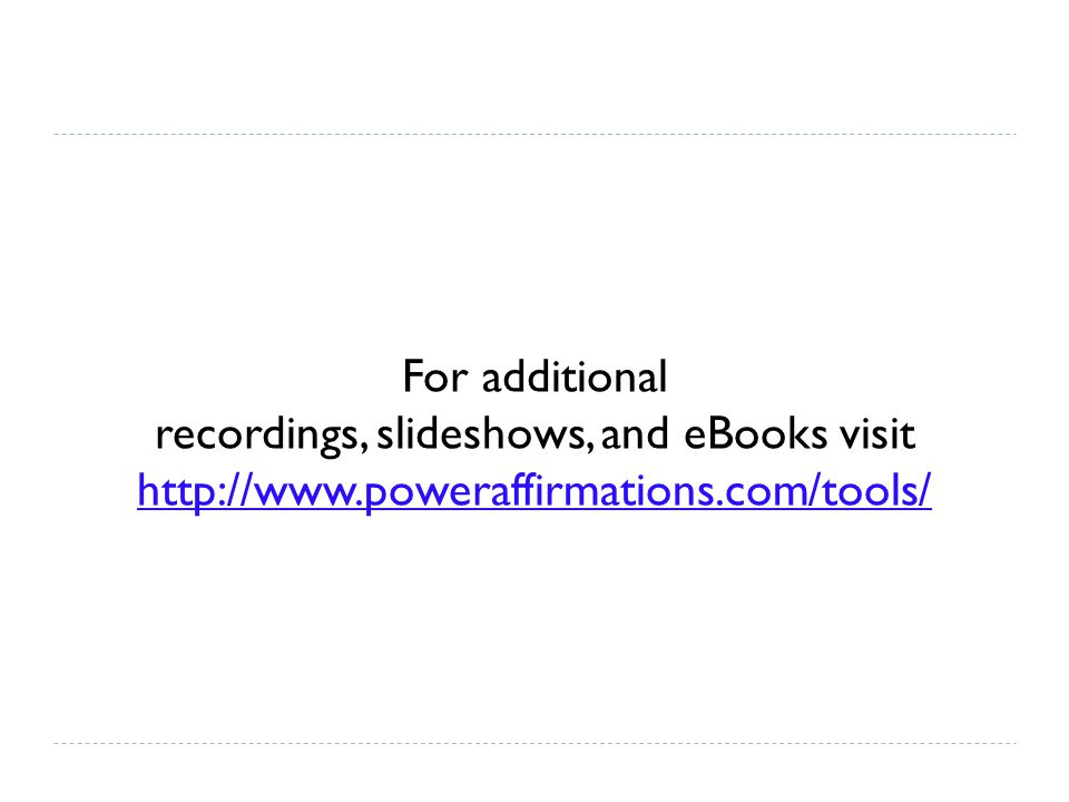 For additional recordings, slideshows, and eBooks visit http://www