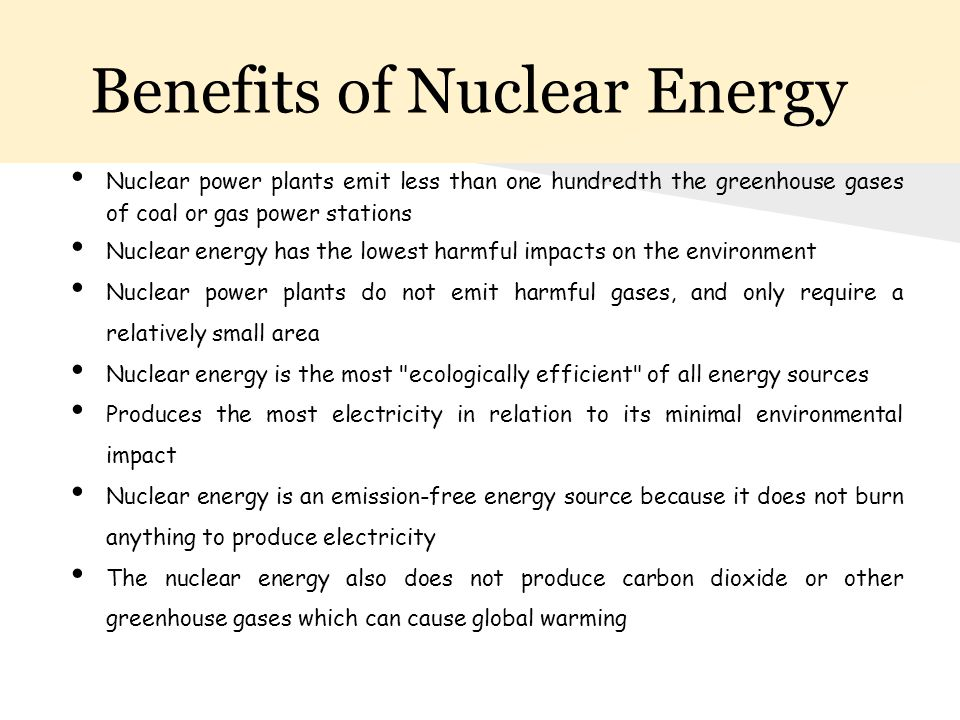Benefits of Nuclear Energy