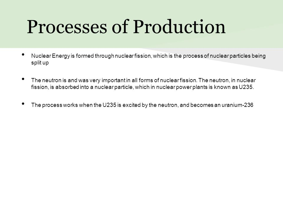Processes of Production
