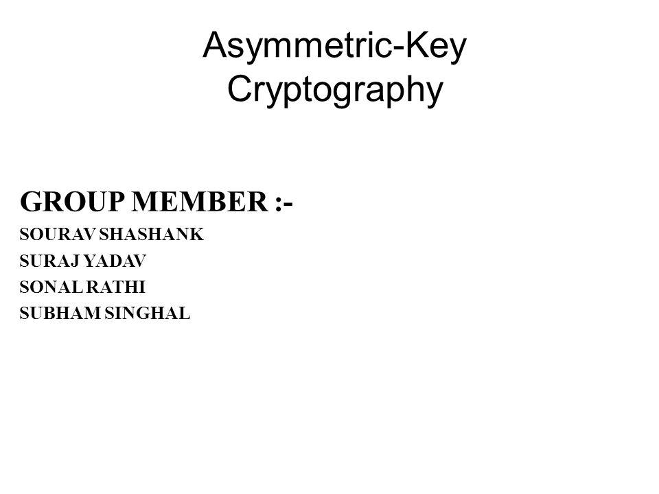 Asymmetric-Key Cryptography