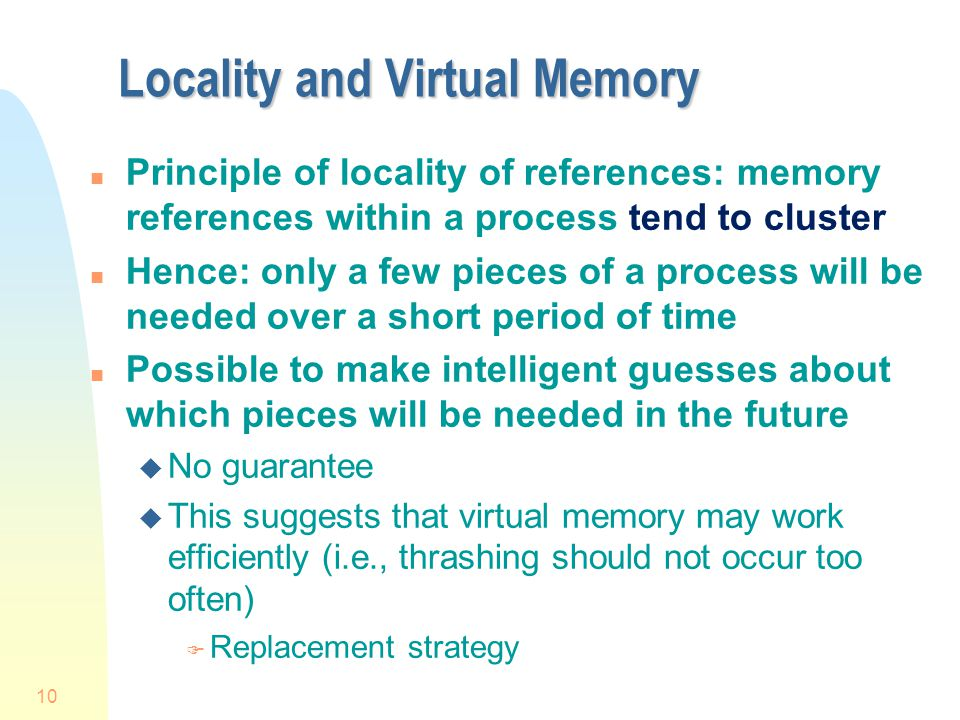 Locality and Virtual Memory