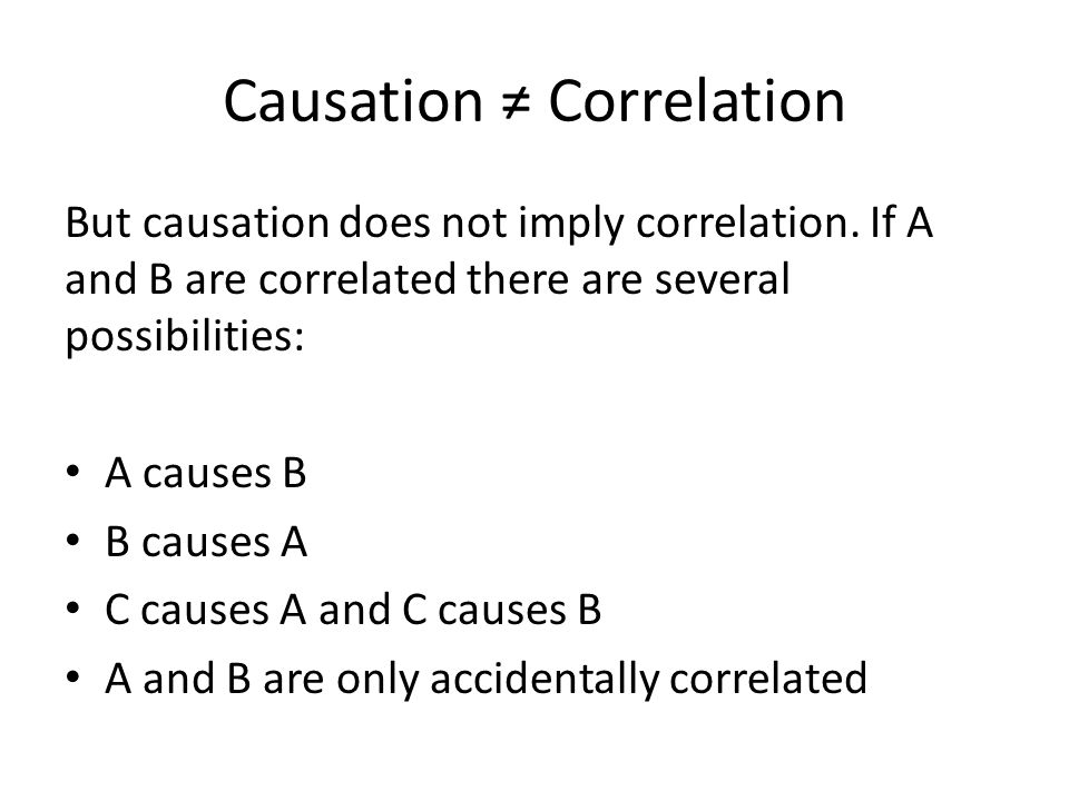 Causation ≠ Correlation